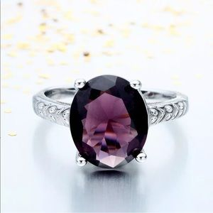 Jewelry - White Gold Filled Amethyst Ring
